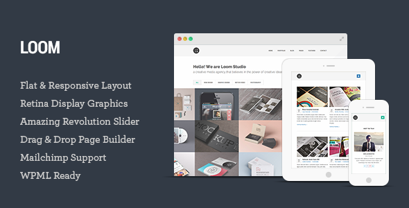 Live Preview of  Loom - Multipurpose Responsive WordPress Theme