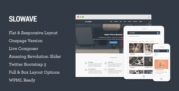 Live Preview of  Slowave - Multipurpose Responsive WordPress Theme