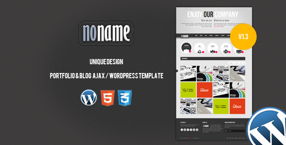 Live Preview of AGT Noname Ajax / Wordpress Template