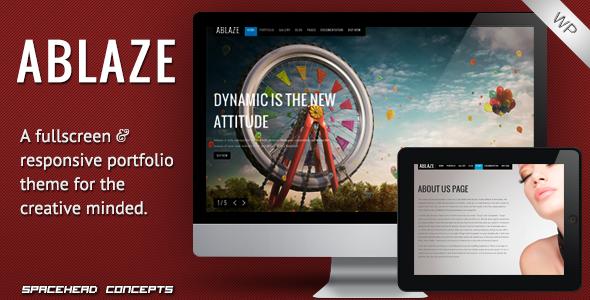 Live Preview of Ablaze - Responsive Fullscreen WordPress Theme