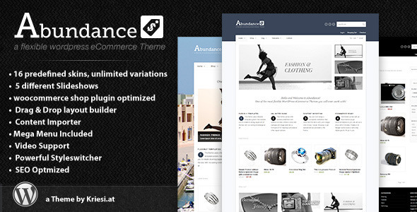 Live Preview of Abundance eCommerce Business Theme