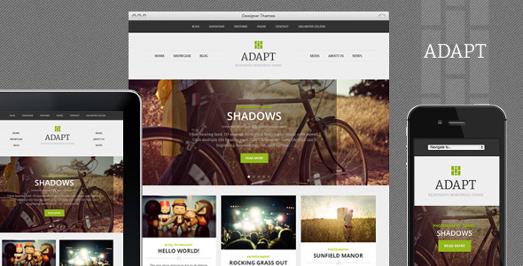 Live Preview of Adapt, a Responsive WordPress Theme