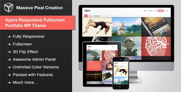 Live Preview of Agera Responsive Fullscreen Portfolio WP Theme