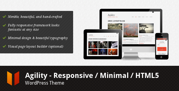 Live Preview of Agility - Responsive HTML5 WordPress Theme