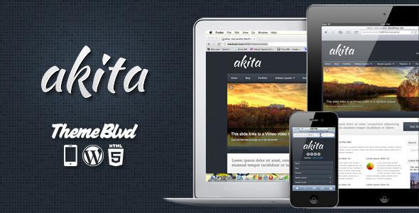 Live Preview of Akita Responsive WordPress Theme