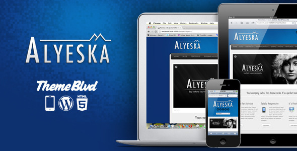 Live Preview of Alyeska Responsive WordPress Theme