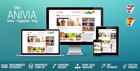 Live Preview of Anivia - News, Magazine, Blog Wordpress Template