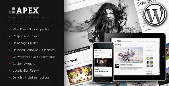 Live Preview of Apex Responsive Portfolio WordPress Theme
