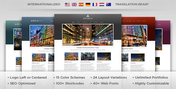 Live Preview of Arcadia - WordPress Theme