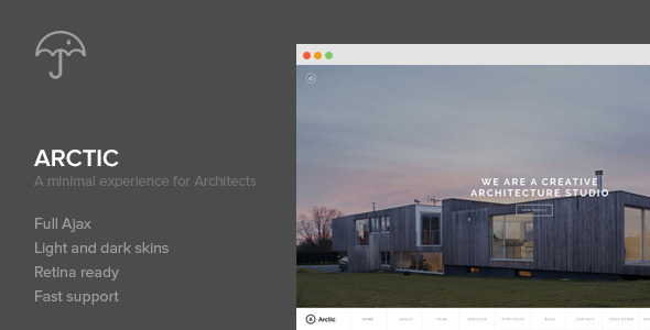 Live Preview of Arctic - Architecture & Creatives WordPress Theme