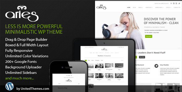 Aries negocios Sensible WordPress Theme (es)