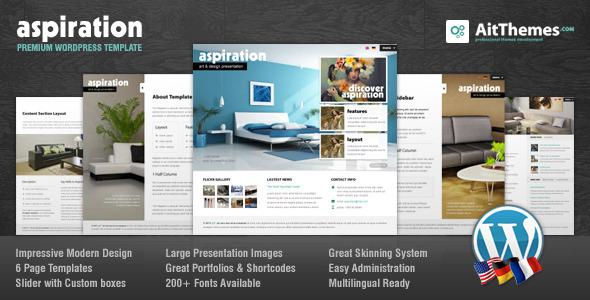 Live Preview of Aspiration Premium Corporate & Portfolio WP Theme