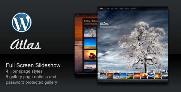 Live Preview of Atlas For Photography Creative Portfolio