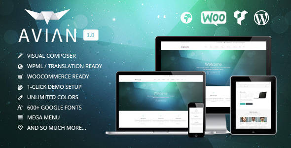 Live Preview of Avian | Responsive Multi-Purpose Theme