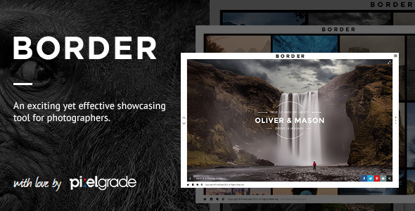 Live Preview of BORDER - A Delightful Photography WordPress Theme