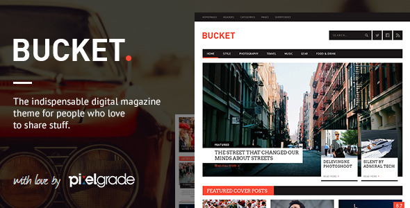 Live Preview of BUCKET - A Digital Magazine Style WordPress Theme