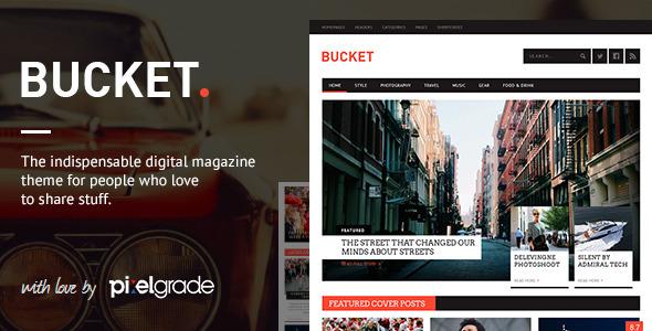 Live Preview of BUCKET - A Digital Magazine Style WordPress Theme