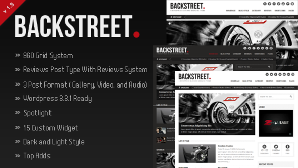 Live Preview of Backstreet - Blog & Magazine Theme