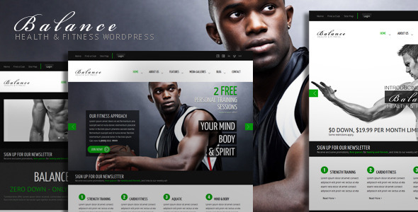 Live Preview of Balance - Gym Fitness WordPress HTML 5 Theme