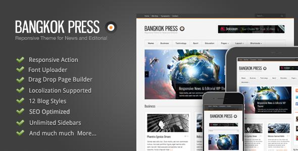 Live Preview of Bangkok Press - Responsive, News & Editorial Theme