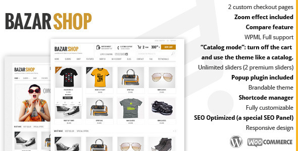 Live Preview of Bazar Shop - Multi-Purpose e-Commerce Theme