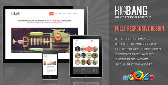 Live Preview of Bigbang - Responsive WordPress Template