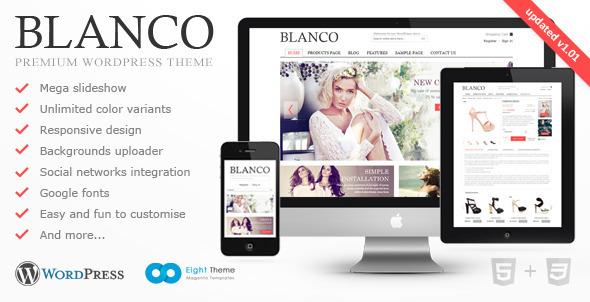 Live Preview of Blanco - Responsive WordPress E-Commerce Theme