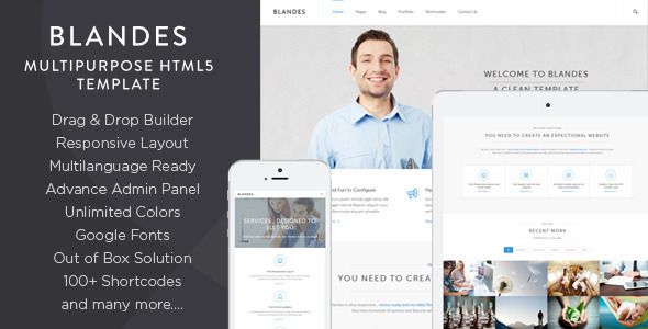 Live Preview of Blandes Multipurpose Responsive Wordpress Theme