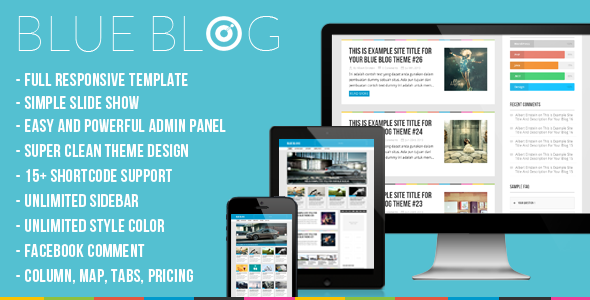 Live Preview of Blog | Blue Blog – Responsive Wordpress Blog Theme