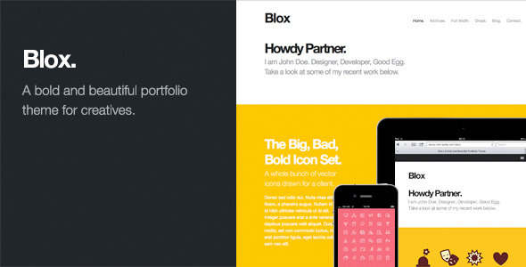 Live Preview of Blox: Bold WordPress Portfolio Theme