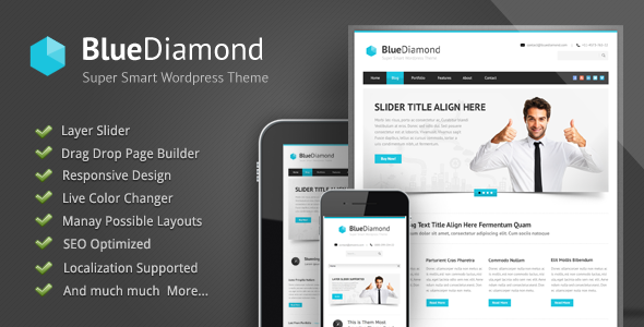 Live Preview of Blue Diamond - Responsive Corporate WP Theme