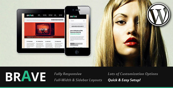 Live Preview of Brave Responsive Business WordPress Theme