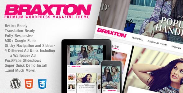 Live Preview of Braxton - Premium Wordpress Magazine Theme