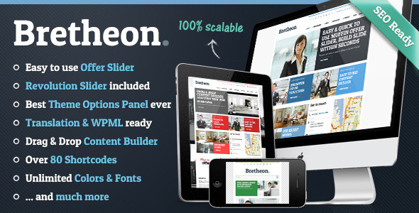 Live Preview of Bretheon Premium WordPress Theme