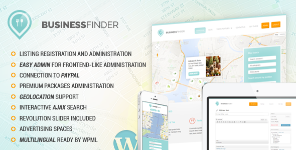 Live Preview of Business Finder: Directory Listing WordPress Theme