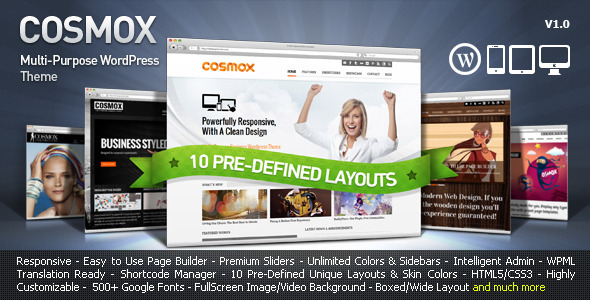 Live Preview of COSMOX - Multipurpose WordPress Theme