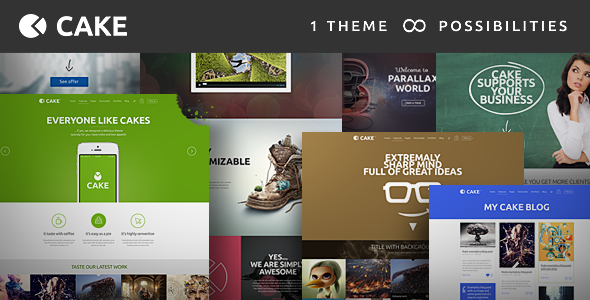 Live Preview of Cake - Responsive Multi-Purpose WordPress Theme