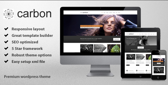 Live Preview of Carbon - Responsive Wordpress Theme
