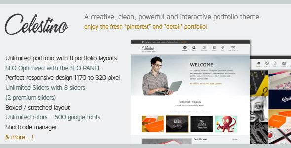 Live Preview of Celestino - Clean and Creative Portfolio Theme