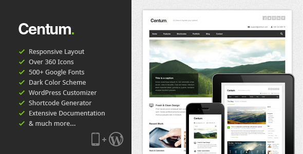 Live Preview of Centum - Responsive WordPress Theme