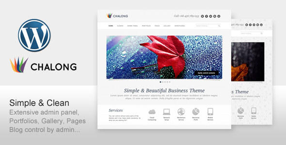 Live Preview of Chalong - Simple and Clean for Business Portfolio