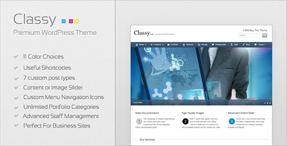 Live Preview of Classy Business & Portfolio WordPress Theme