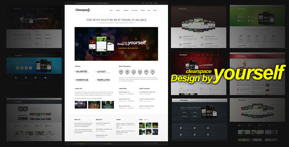 Live Preview of Clearspace - Powerful Business Wordpress Theme