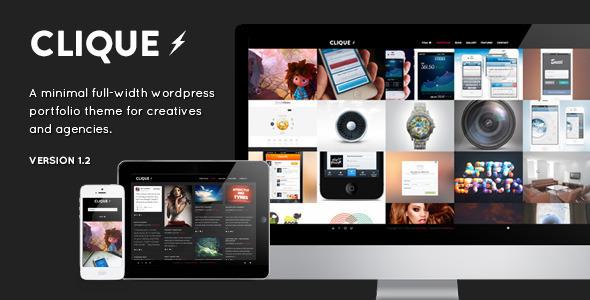 Live Preview of Clique - AJAX Responsive Portfolio WordPress Theme