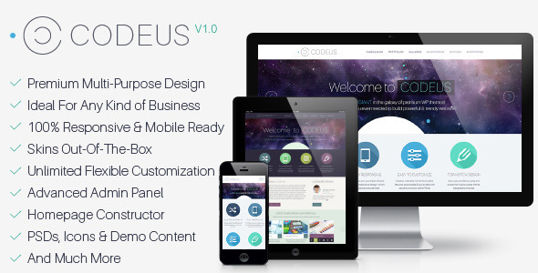 Live Preview of Codeus — Multi-Purpose Responsive Wordpress Theme