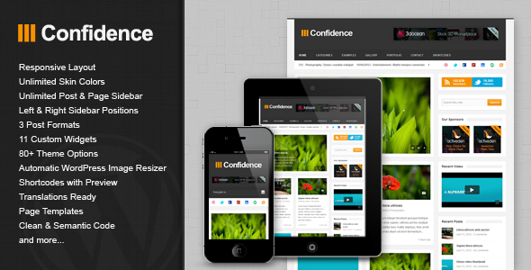 Live Preview of Confidence - Responsive Blog / Magazine Theme