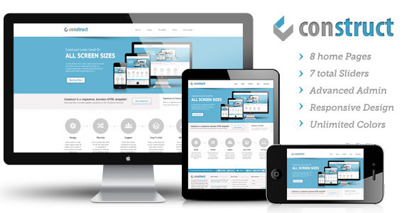 Live Preview of Construct | Multi-Purpose Wordpress Theme