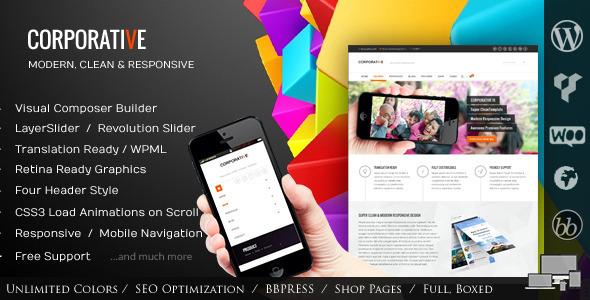 Live Preview of Corporative - Multipurpose Wordpress Theme