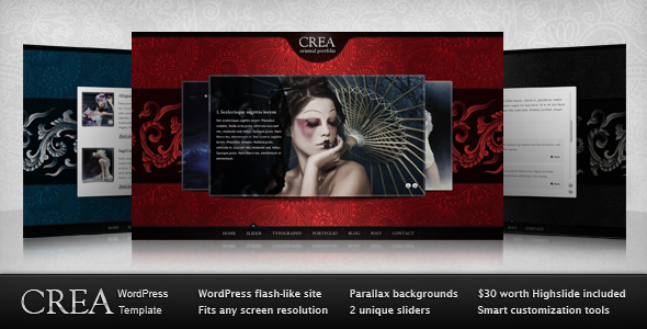 Live Preview of Crea WP
