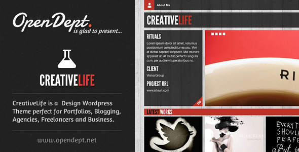 Live Preview of CreativeLife - WordPress Theme For Creatives